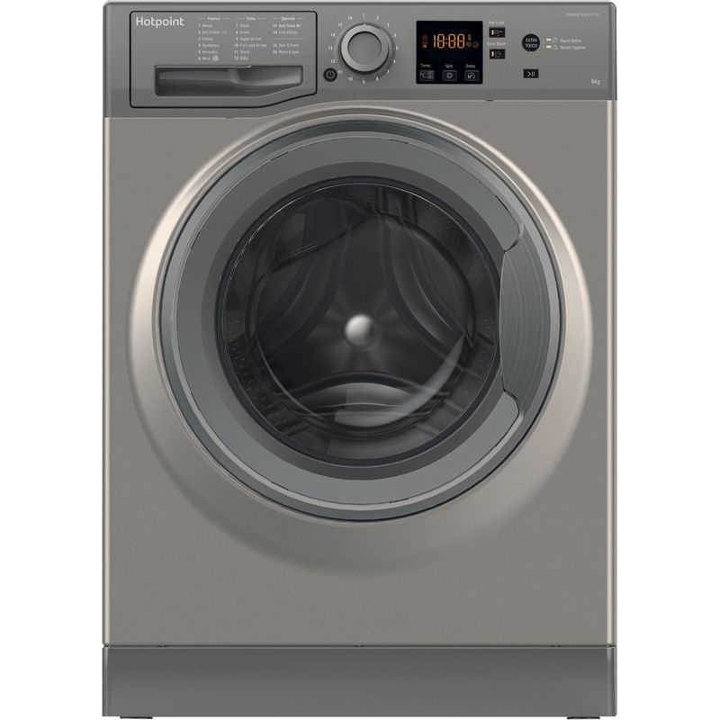 Hotpoint-Washing-machine-Free-standing-NSWR-863C-GG-UK-Graphite-Front-loader-A----Frontal