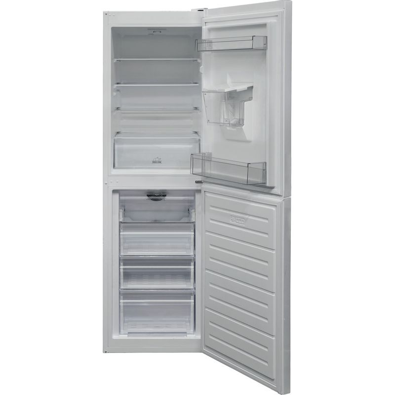 Hotpoint-Fridge-Freezer-Free-standing-HBNF-55181-W-AQUA-UK-White-2-doors-Frontal-open