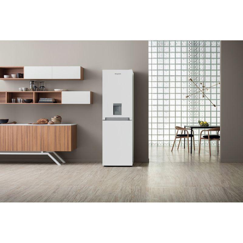 Hotpoint-Fridge-Freezer-Free-standing-HBNF-55181-W-AQUA-UK-White-2-doors-Lifestyle-frontal