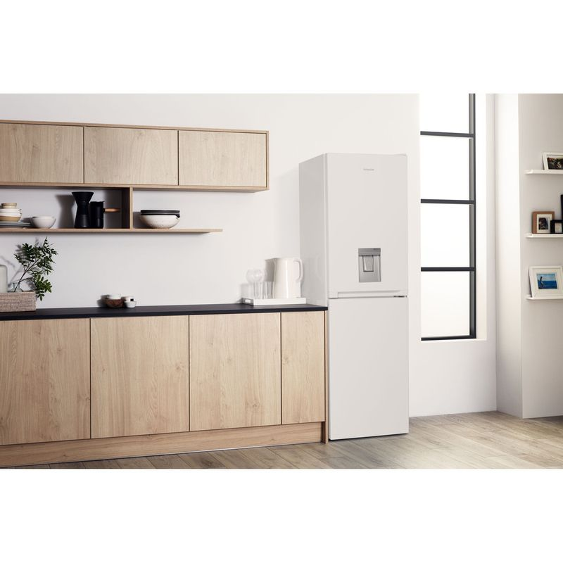 Hotpoint-Fridge-Freezer-Free-standing-HBNF-55181-W-AQUA-UK-White-2-doors-Lifestyle-perspective