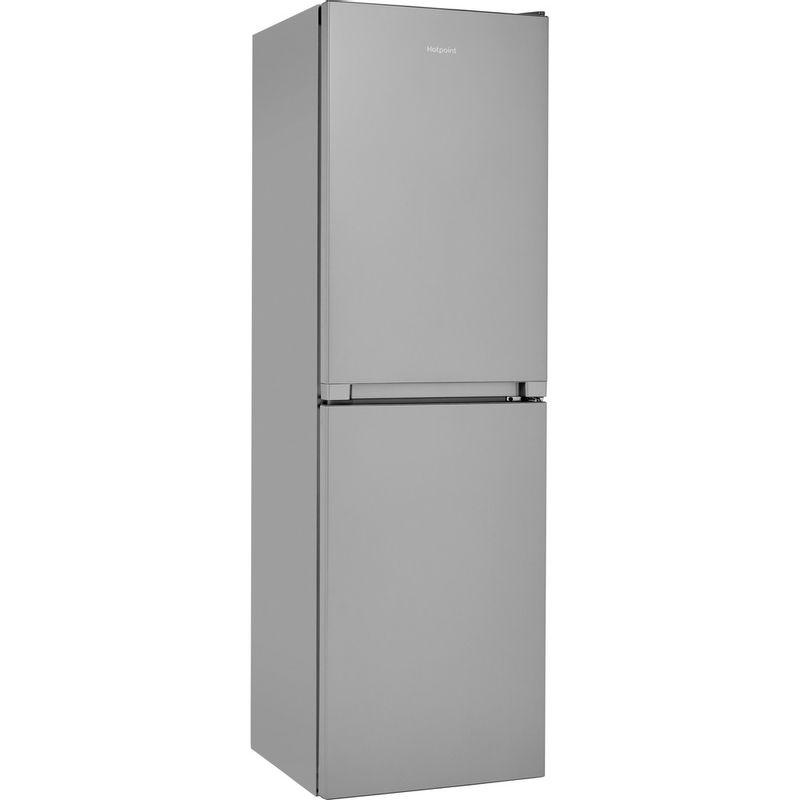 Hotpoint-Fridge-Freezer-Free-standing-HBNF-55181-S-UK-Silver-2-doors-Perspective