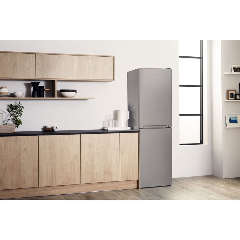 Hotpoint-Fridge-Freezer-Free-standing-HBNF-55181-S-UK-Silver-2-doors-Lifestyle-perspective