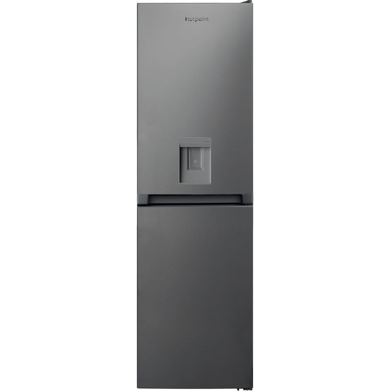 Hotpoint-Fridge-Freezer-Free-standing-HBNF-55181-S-AQUA-UK-Silver-2-doors-Frontal