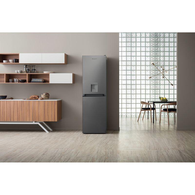 Hotpoint-Fridge-Freezer-Free-standing-HBNF-55181-S-AQUA-UK-Silver-2-doors-Lifestyle-frontal
