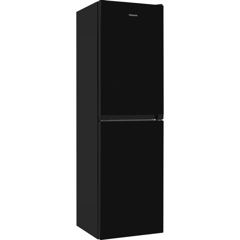 Hotpoint-Fridge-Freezer-Free-standing-HBNF-55181-B-UK-Black-2-doors-Perspective