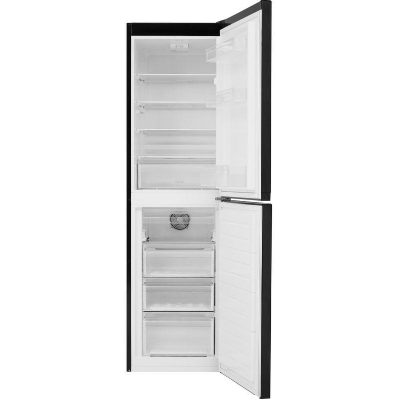 Hotpoint-Fridge-Freezer-Free-standing-HBNF-55181-B-UK-Black-2-doors-Frontal-open