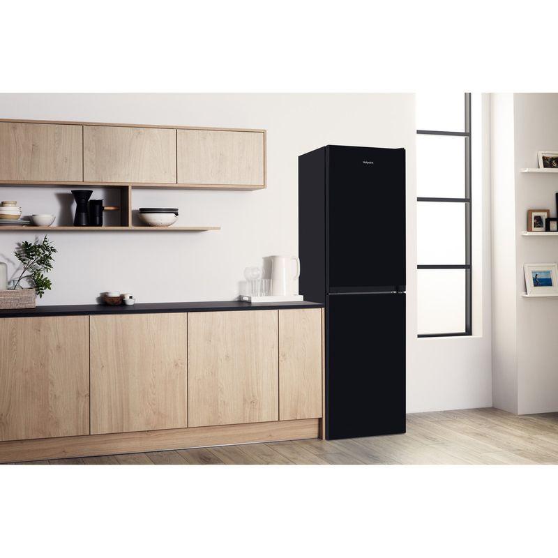 Hotpoint-Fridge-Freezer-Free-standing-HBNF-55181-B-UK-Black-2-doors-Lifestyle-perspective