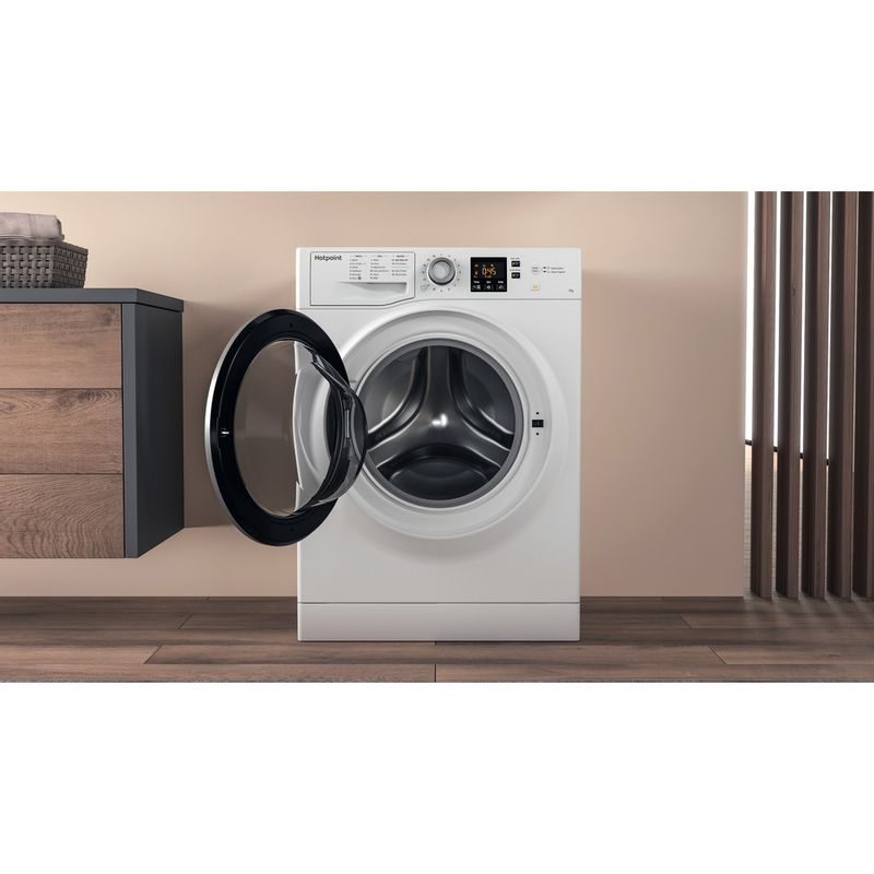 Hotpoint-Washing-machine-Free-standing-NSWE-743U-WS-UK-White-Front-loader-A----Lifestyle_Frontal_Open