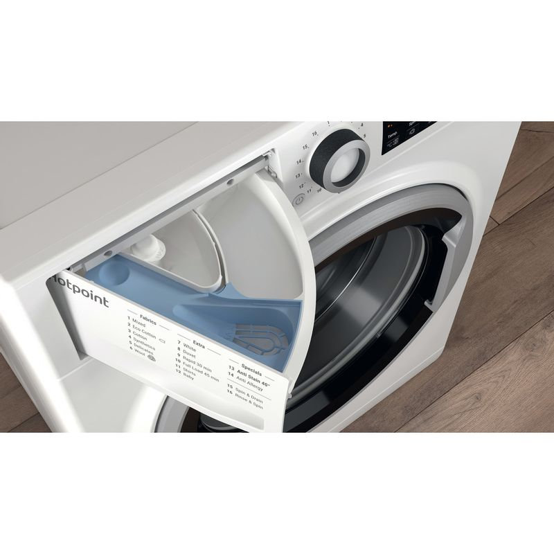 Hotpoint-Washing-machine-Free-standing-NSWE-743U-WS-UK-White-Front-loader-A----Drawer