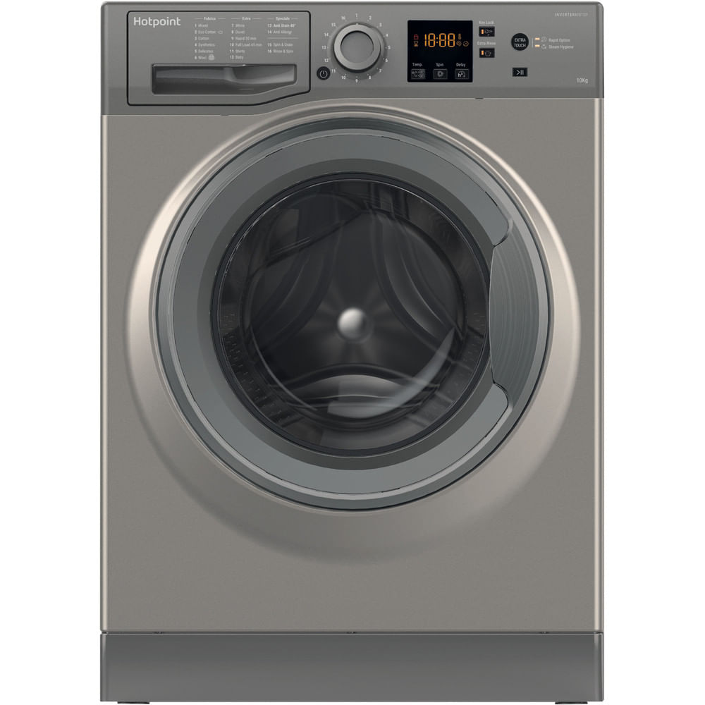 Hotpoint Freestanding Washing Machine NSWR 1063C GG UK : discover the specifications of our home appliances and bring the innovation into your house and family.