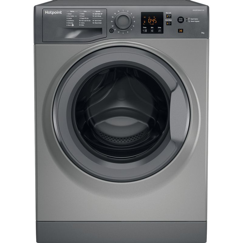 Hotpoint-Washing-machine-Free-standing-NSWR-963C-GK-UK-Graphite-Front-loader-A----Frontal