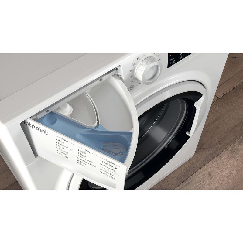 Hotpoint-Washing-machine-Free-standing-NSWA-843C-WW-UK-White-Front-loader-A----Drawer