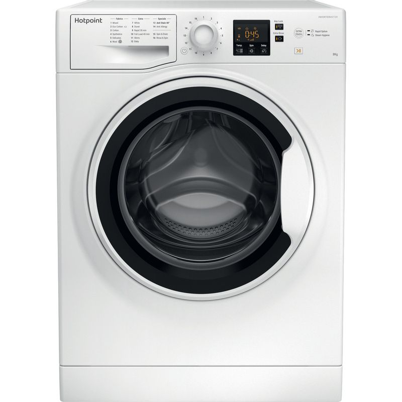 Hotpoint-Washing-machine-Free-standing-NSWA-843C-WW-UK-White-Front-loader-A----Frontal