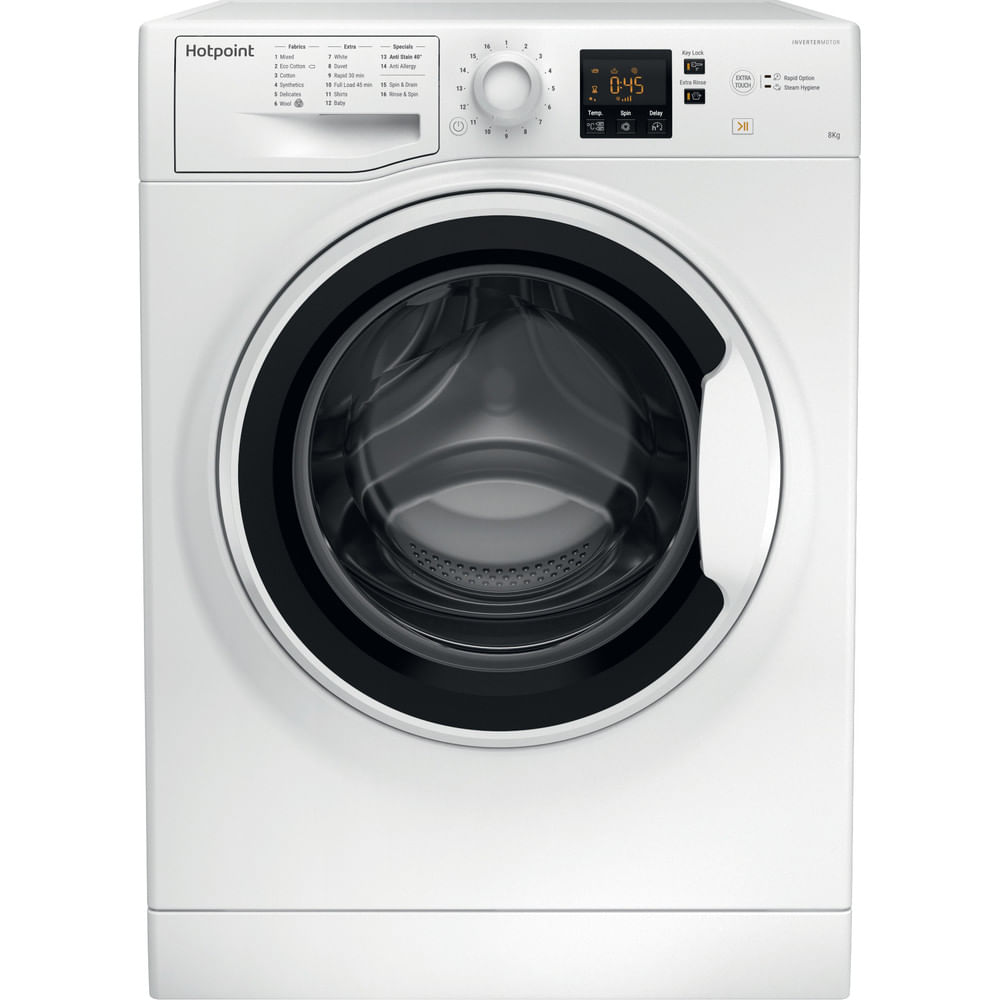 Hotpoint Freestanding Washing Machine NSWA 843C WW UK : discover the specifications of our home appliances and bring the innovation into your house and family.