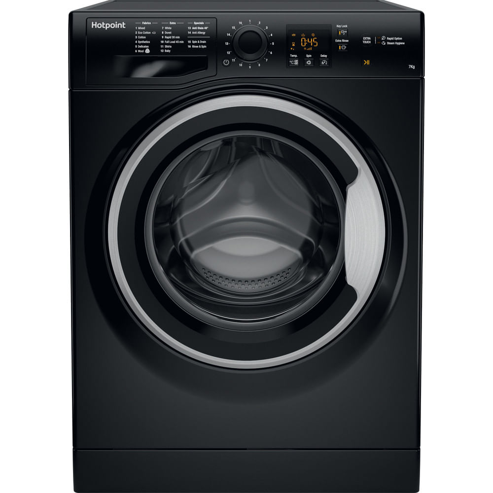Hotpoint Freestanding Washing Machine NSWM 743U BS UK : discover the specifications of our home appliances and bring the innovation into your house and family.