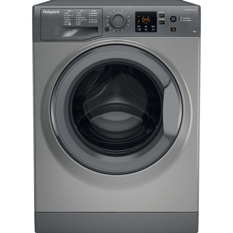 Hotpoint-Washing-machine-Free-standing-NSWM-863C-GG-UK-Graphite-Front-loader-A----Frontal