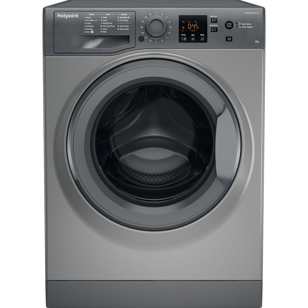 Hotpoint Freestanding Washing Machine NSWM 863C GG UK : discover the specifications of our home appliances and bring the innovation into your house and family.