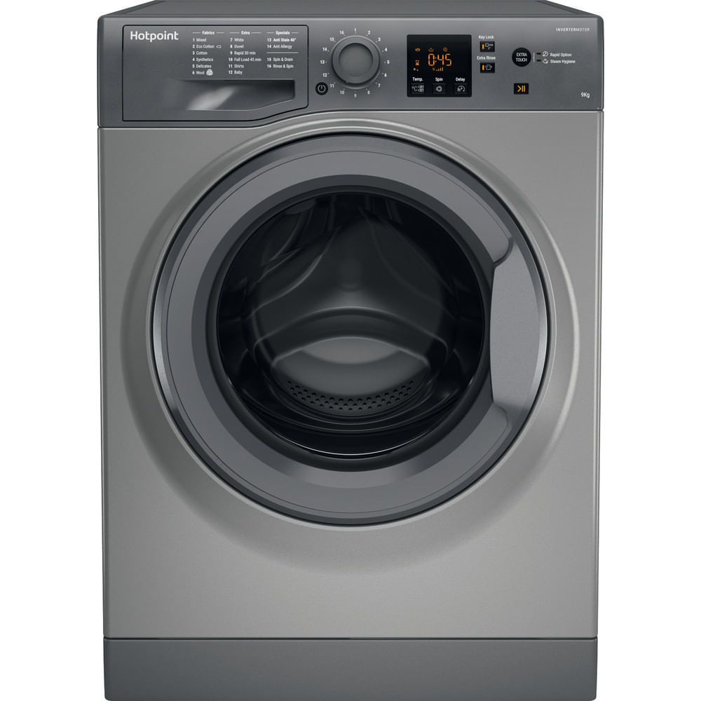 Hotpoint Freestanding Washing Machine NSWM 943C GG UK : discover the specifications of our home appliances and bring the innovation into your house and family.