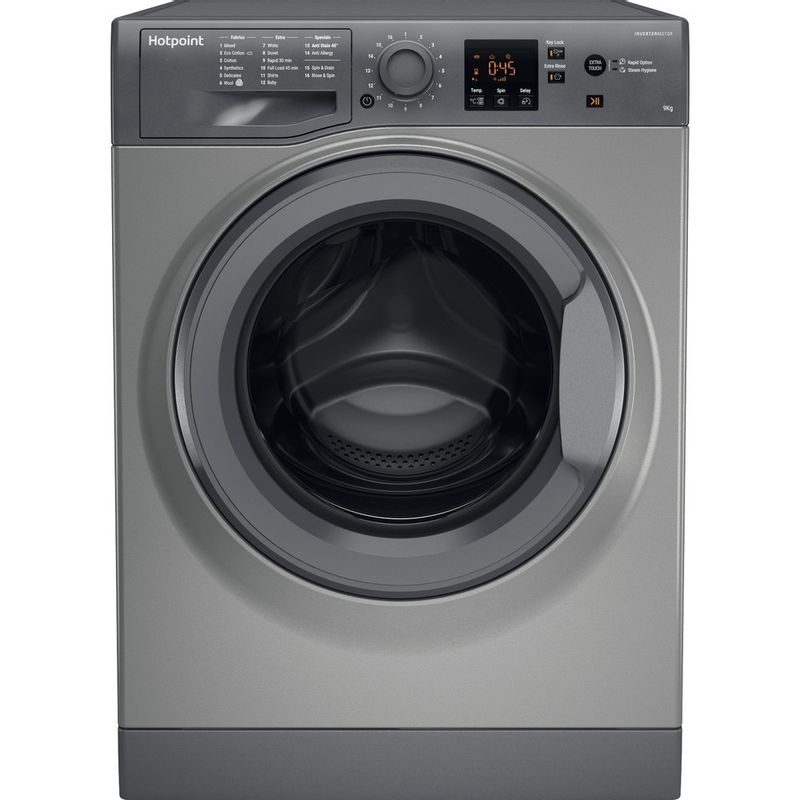 Hotpoint-Washing-machine-Free-standing-NSWF-943C-GG-UK-Graphite-Front-loader-A----Frontal