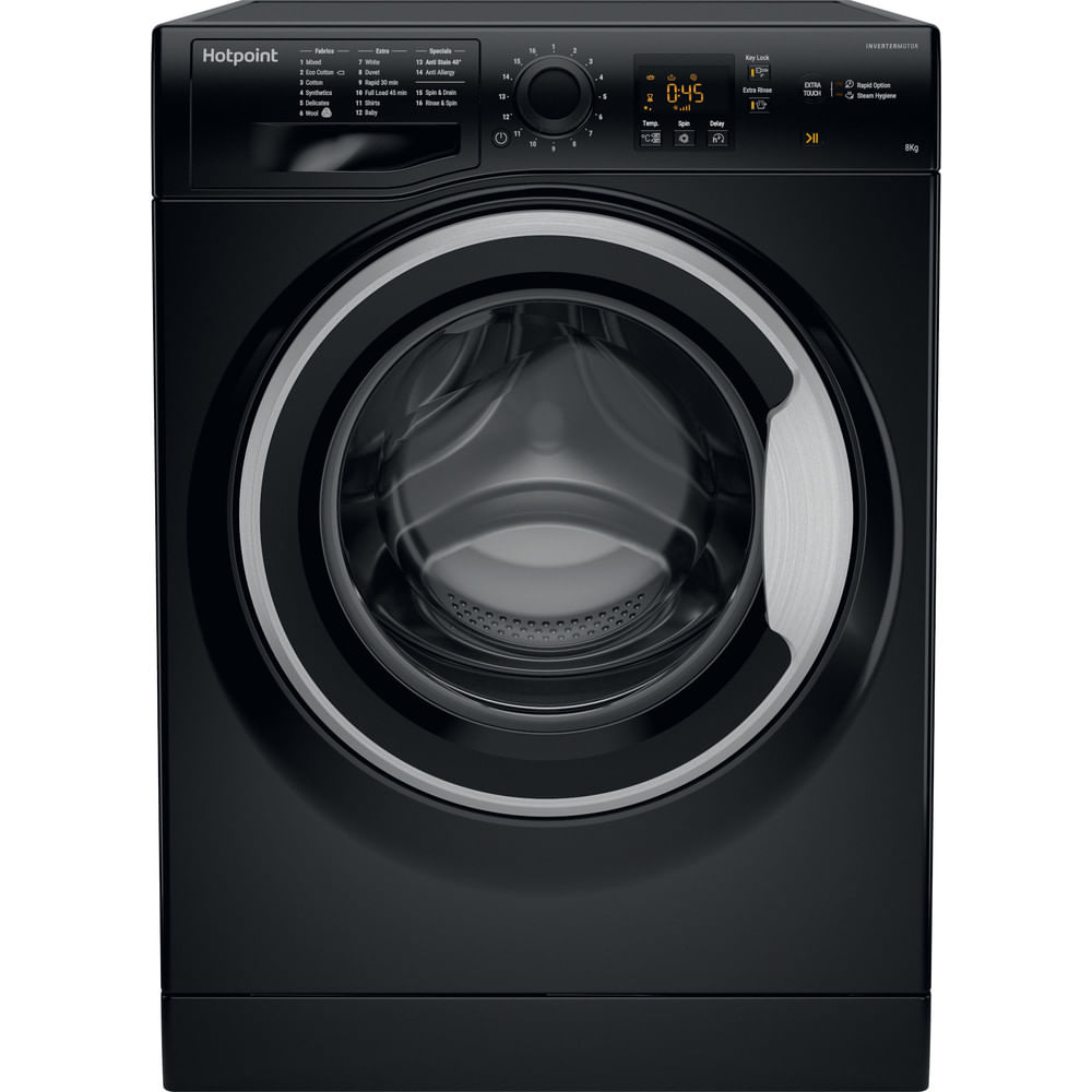 Hotpoint Freestanding Washing Machine NSWM 843C BS UK : discover the specifications of our home appliances and bring the innovation into your house and family.