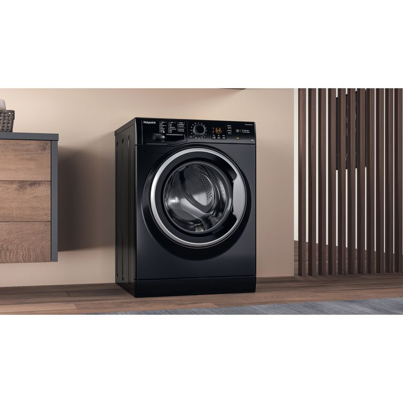 Hotpoint-Washing-machine-Free-standing-NSWM-843C-BS-UK-Black-Front-loader-A----Lifestyle-perspective