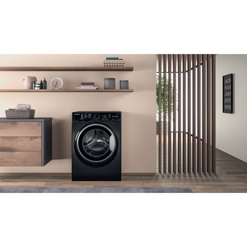 Hotpoint-Washing-machine-Free-standing-NSWM-843C-BS-UK-Black-Front-loader-A----Lifestyle-frontal