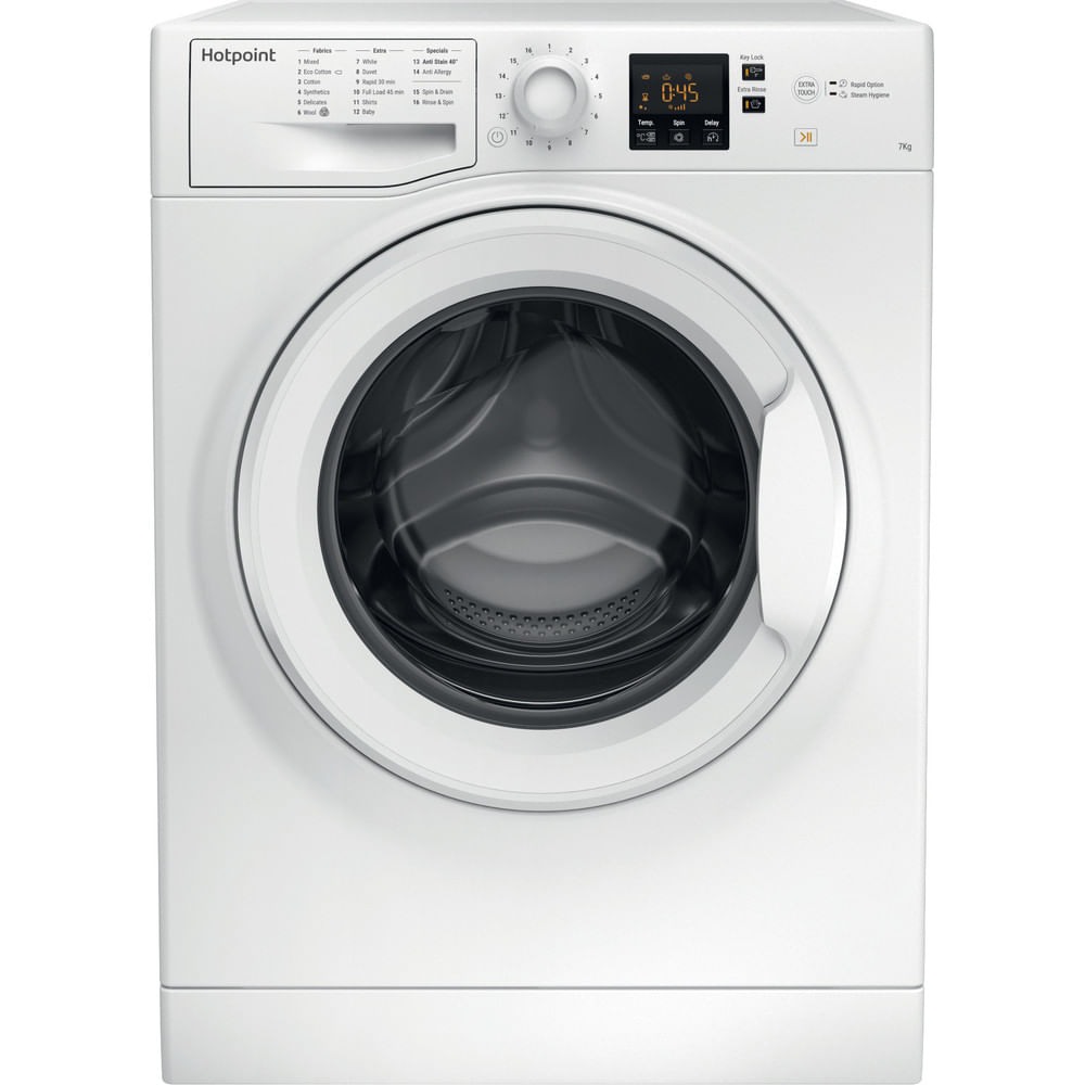 Hotpoint Freestanding Washing Machine NSWM 743U W UK : discover the specifications of our home appliances and bring the innovation into your house and family.
