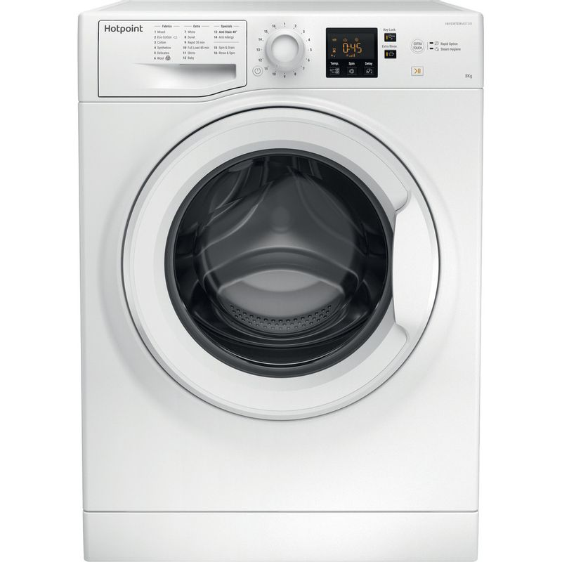 Hotpoint-Washing-machine-Free-standing-NSWF-843C-W-UK-White-Front-loader-A----Frontal