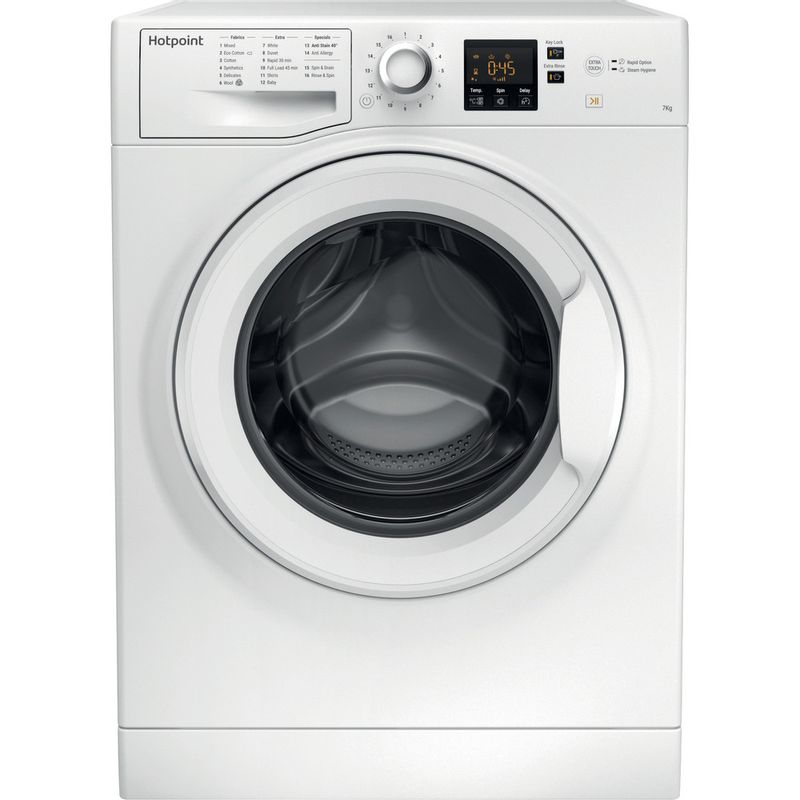Hotpoint-Washing-machine-Free-standing-NSWJ-742U-W-UK-White-Front-loader-A---Frontal