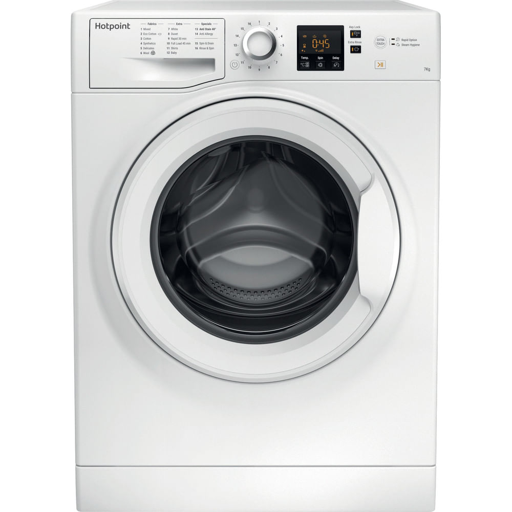 Hotpoint Freestanding Washing Machine NSWJ 742U W UK : discover the specifications of our home appliances and bring the innovation into your house and family.