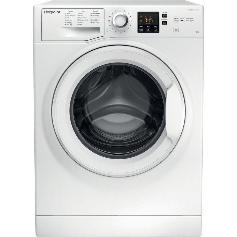 Hotpoint-Washing-machine-Free-standing-NSWJ-842C-W-UK-White-Front-loader-A---Frontal