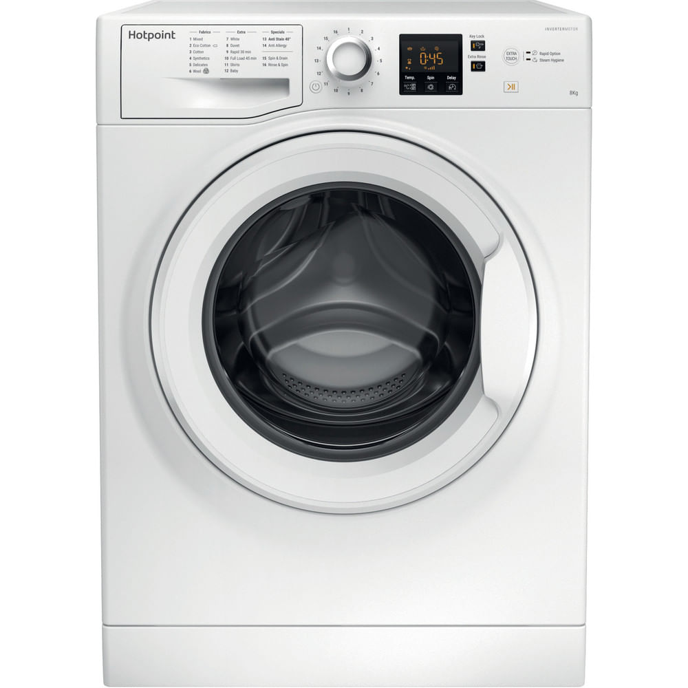 Hotpoint Freestanding Washing Machine NSWJ 842C W UK : discover the specifications of our home appliances and bring the innovation into your house and family.