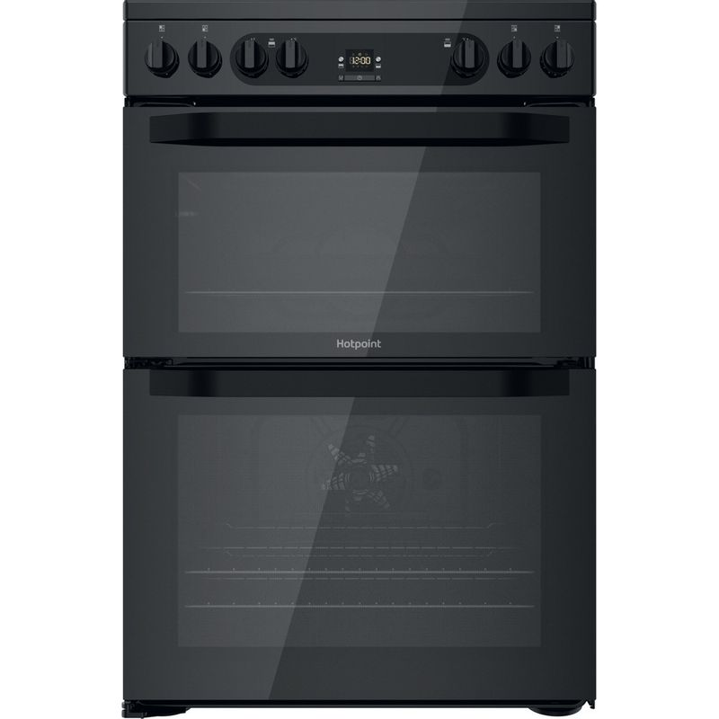 Hotpoint-Double-Cooker-HDM67V92HCB-UK-Black-A-Frontal