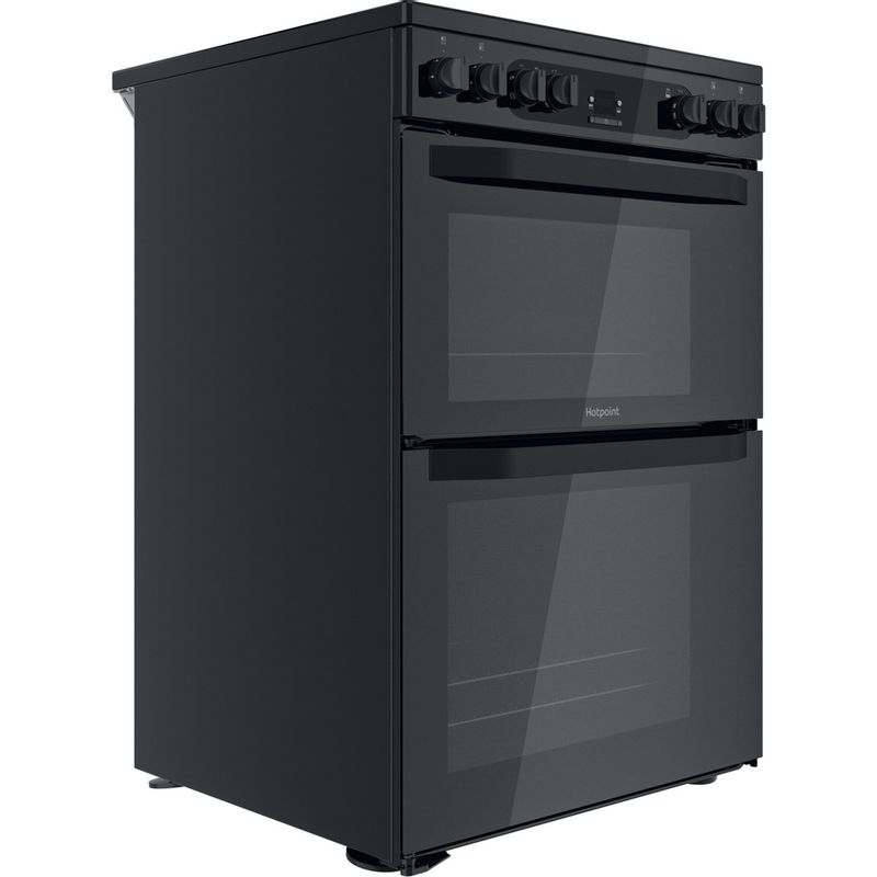 Hotpoint-Double-Cooker-HDM67V92HCB-UK-Black-A-Perspective