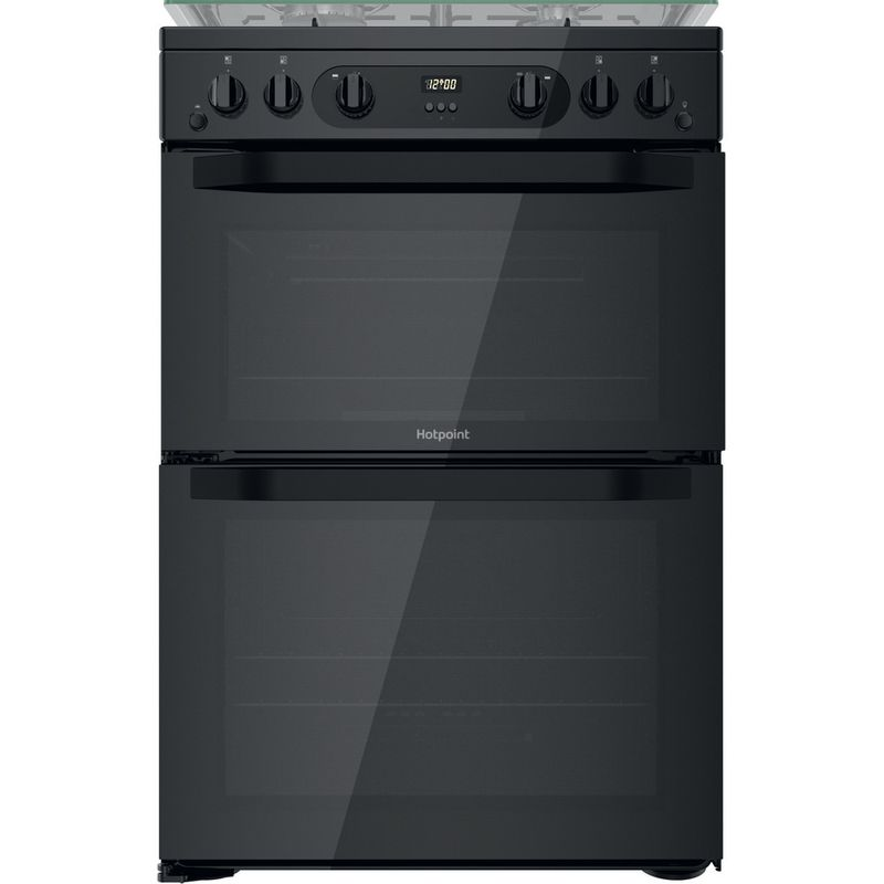 Hotpoint-Double-Cooker-HDM67G0CCB-UK-Black-A--Frontal