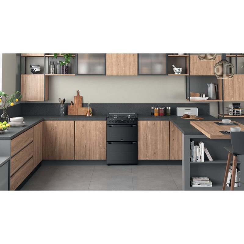 Hotpoint-Double-Cooker-HDM67G0CCB-UK-Black-A--Lifestyle-frontal