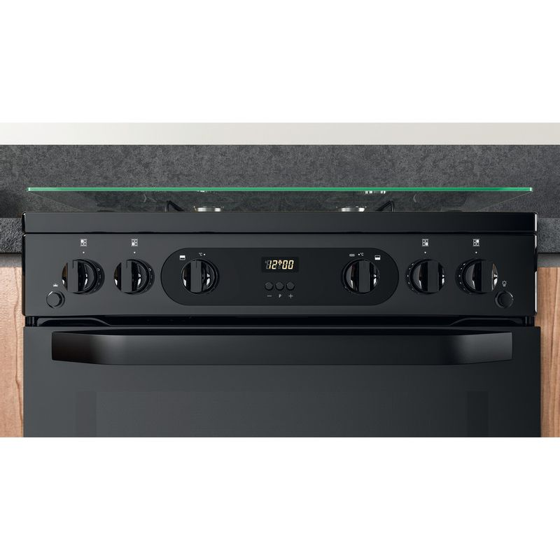 Hotpoint-Double-Cooker-HDM67G0CCB-UK-Black-A--Lifestyle-control-panel