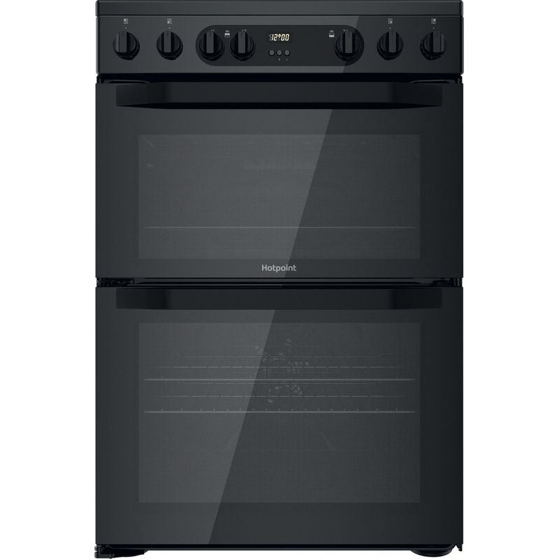 Hotpoint-Double-Cooker-HDM67V9CMB-UK-Black-A-Frontal