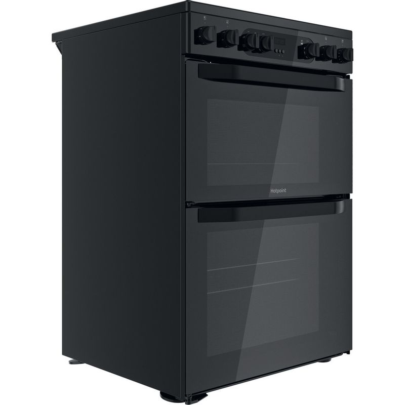 Hotpoint-Double-Cooker-HDM67V9CMB-UK-Black-A-Perspective