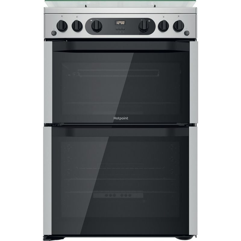 Hotpoint-Double-Cooker-HDM67G0CCX-UK-Inox-A--Frontal