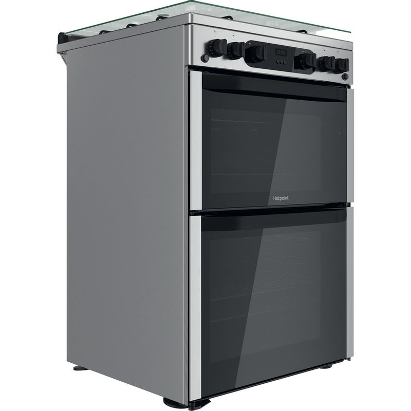 Hotpoint-Double-Cooker-HDM67G0CCX-UK-Inox-A--Perspective