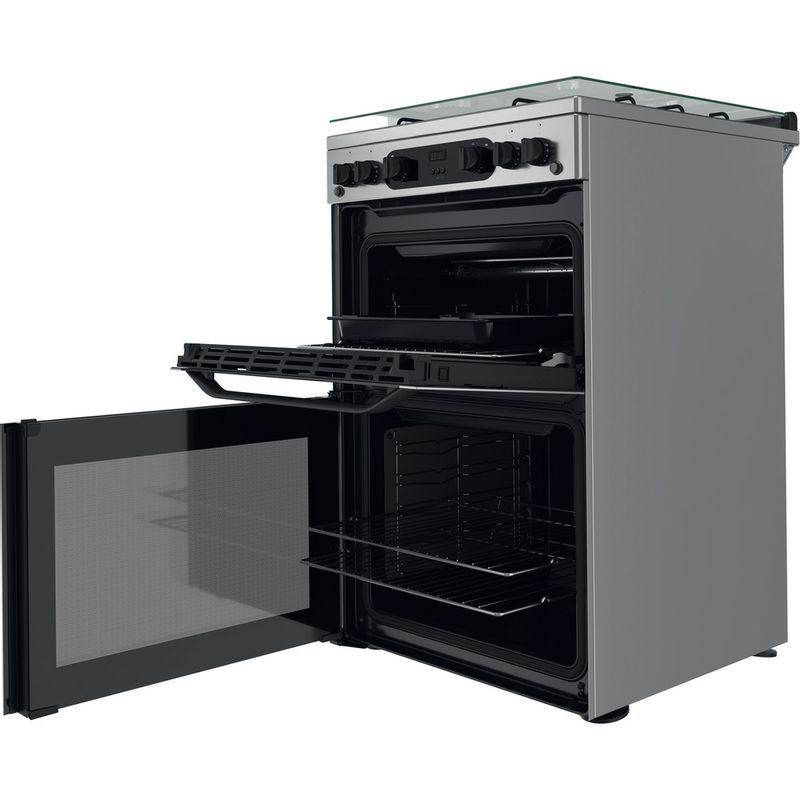 Hotpoint-Double-Cooker-HDM67G0CCX-UK-Inox-A--Perspective-open