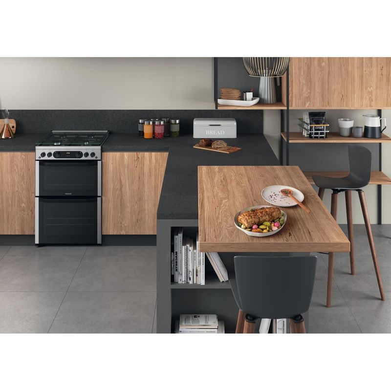 Hotpoint-Double-Cooker-HDM67G0CCX-UK-Inox-A--Lifestyle-frontal