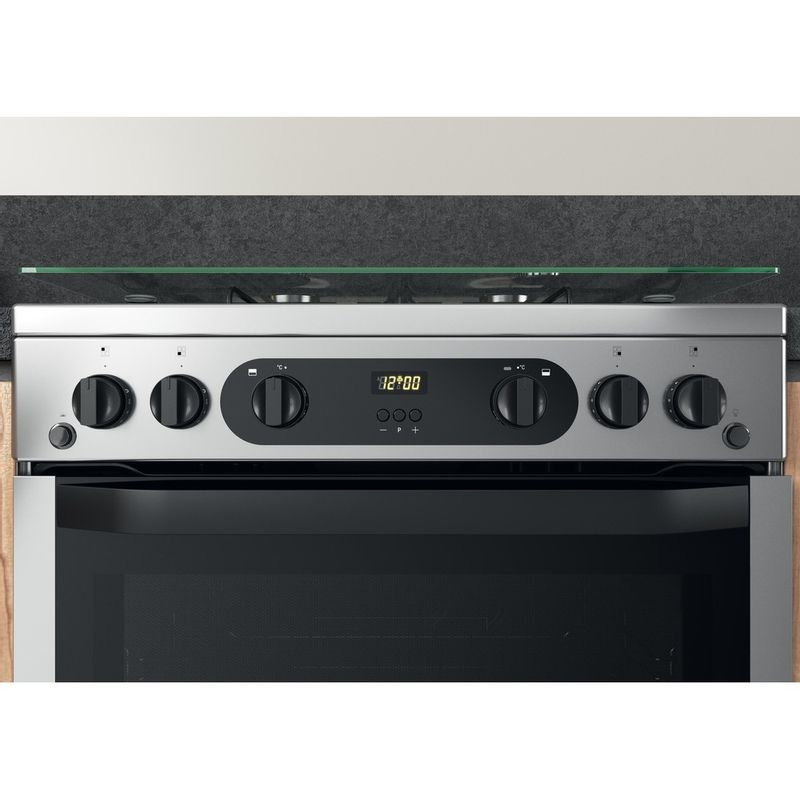 Hotpoint-Double-Cooker-HDM67G0CCX-UK-Inox-A--Control-panel