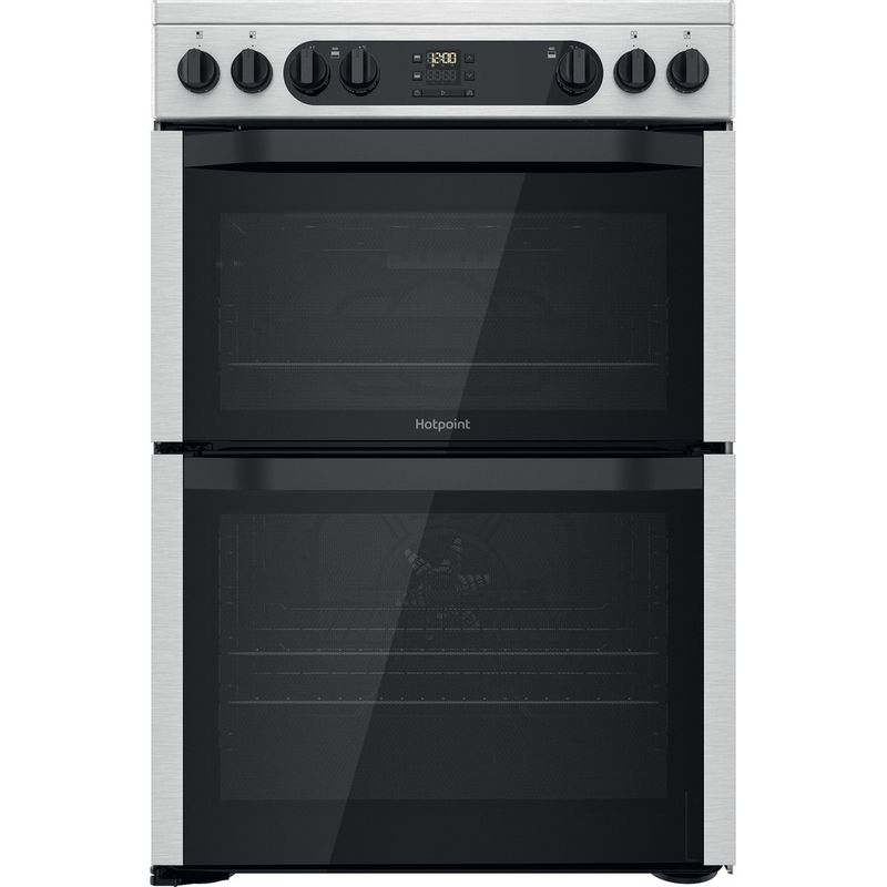 Hotpoint-Double-Cooker-HDM67V9DCX-UK-Inox-A-Frontal