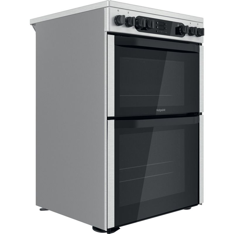 Hotpoint-Double-Cooker-HDM67V9DCX-UK-Inox-A-Perspective