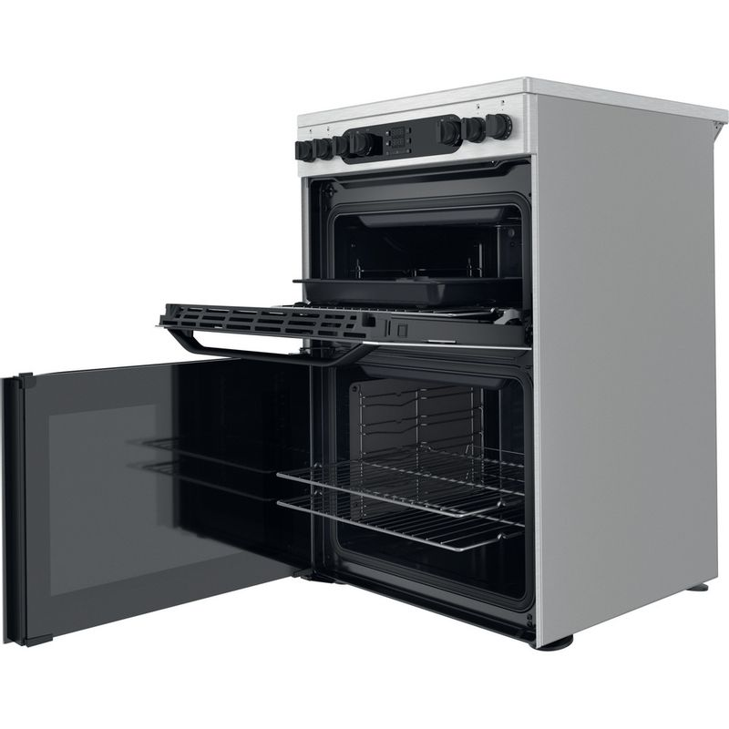 Hotpoint-Double-Cooker-HDM67V9DCX-UK-Inox-A-Perspective-open