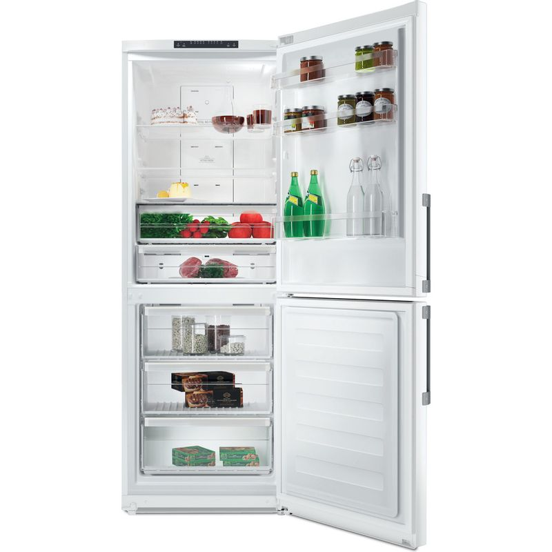 Hotpoint-Fridge-Freezer-Free-standing-NFFUD-190-W-White-2-doors-Frontal-open