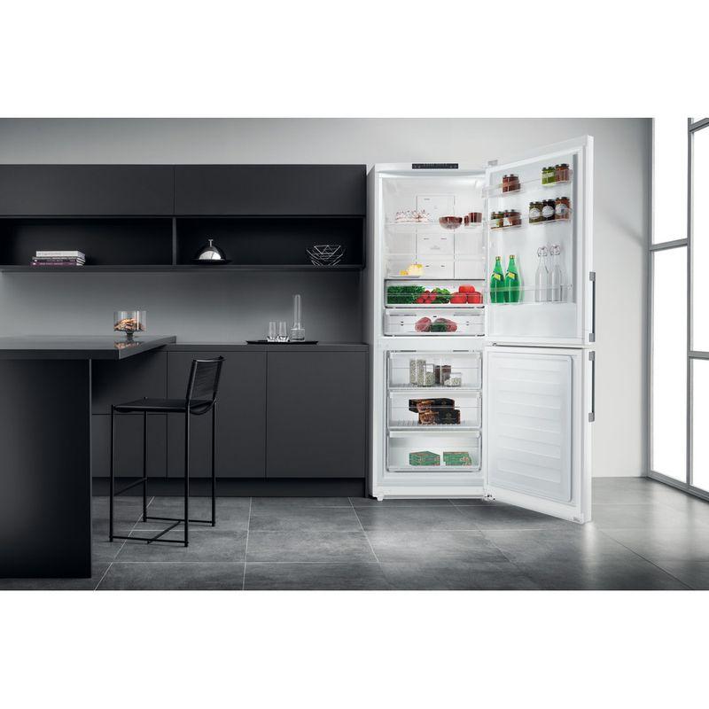 Hotpoint-Fridge-Freezer-Free-standing-NFFUD-190-W-White-2-doors-Lifestyle-frontal-open