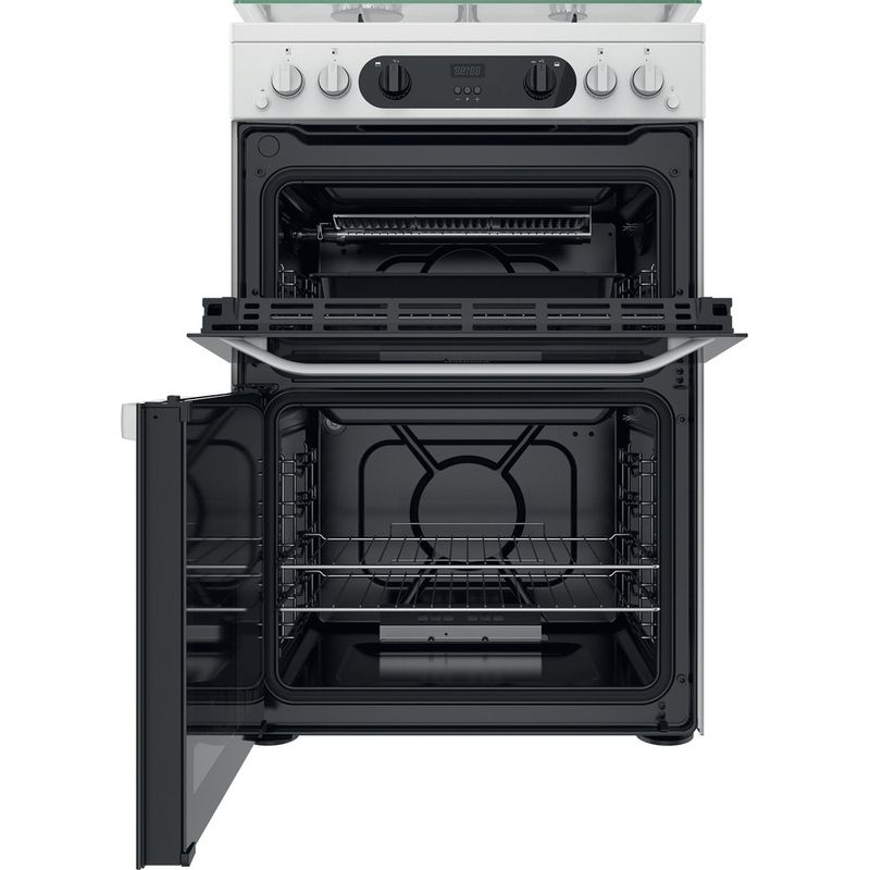 Hotpoint-Double-Cooker-HDM67G0CCW-UK-White-A--Frontal-open